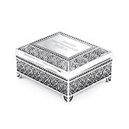 Engravable Vintage Style Square Jewelry Box