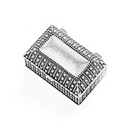Engravable Beaded Antique Style Rectangle Jewelry Box