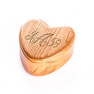Small Engravable Cherry Wood Jewelry Box