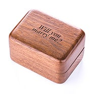 Engravable Walnut Ring Box