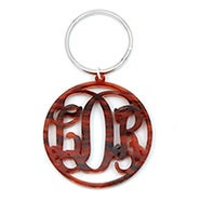 Custom Monogram Acrylic Fancy Script Keychain