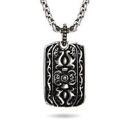 Stainless Steel Engravable Tribal Design Dog Tag Necklace