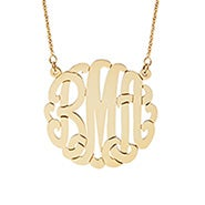 Script Gold Monogram Necklace