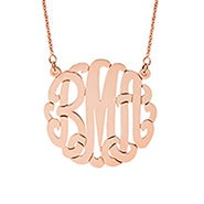 Rose Gold Vermeil Monogram Necklace