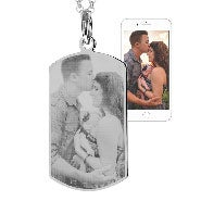 Custom Stainless Steel Dog Tag Photo Necklace