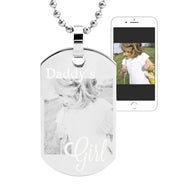Daddy's Girl Photo Dog Tag Necklace