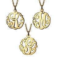 Petite Initial Gold Vermeil Monogram Pendant