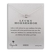 Dogeared Lucky Horseshoe Sterling Silver Necklace