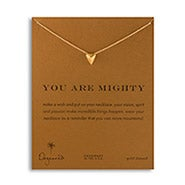 Dogeared You Are Mighty Pyramid Gold Dipped Necklace