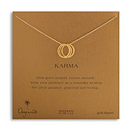Dogeared Karma Triple Ring Gold Dipped Necklace