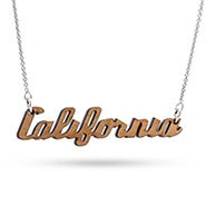Cherry Wood California Necklace