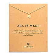 Dogeared All Is Well Hamsa Gold Dipped Necklace