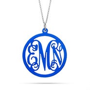 Fancy Script Acrylic Monogram Necklace