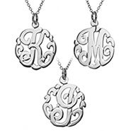 Petite Single Initial Silver Monogram Necklace