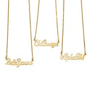 Sorority Name Necklace in Gold