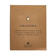 Dogeared Grandma Kind Heart Gold Dipped Necklace