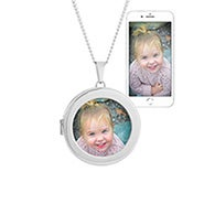 Round Custom Color Photo Locket