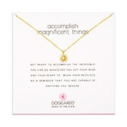 Dogeared Accomplish Magnificent Things Gold Dipped Necklace