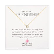 Dogeared Freshwater Pearls of Friendship Gold Dipped Necklace