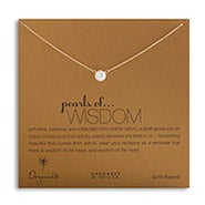 Dogeared Freshwater Pearls of Wisdom Gold Dipped Necklace