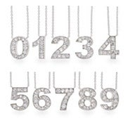Get Lucky CZ Number Necklace