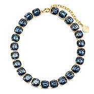 Fornash Charlotte Necklace with Navy Stones