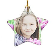 Holiday Star Custom Photo Ornament
