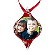Tapered Holiday Personalized Photo Ornament