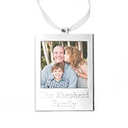 Engravable Picture Frame Holiday Ornament