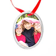 Oval Holiday Photo Ornament