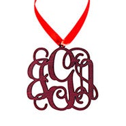 Wooden Custom Monogram Ornament