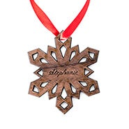 Personalized Snowflake Wood Ornament