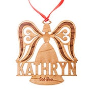 Custom Angel Wood Ornament