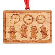 Grandma's Cookie Tray Custom Wood Ornament