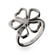 Designer Style Sterling Silver Flower Ring