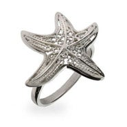 Sterling Silver Filigree Starfish Ring