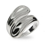 Modern Style Sterling Silver Spoon Ring