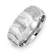 Men's Stainless Steel Tire Ring