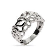 Sterling Silver Fluttering Butterfly and Flower Ring