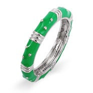 Stackable Green Enamel Ring