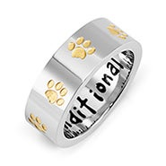 Unconditional Love Golden Paw Print Ring