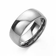 Engravable 7mm Stainless Steel Wedding Band