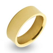 18K Gold Plated 7mm Engravable Steel Band