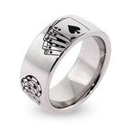 Engravable Stainless Steel Poker Ring