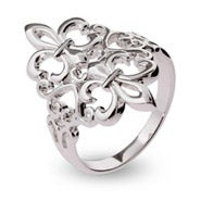 Sterling Silver Filagree Fleur de Lis Ring