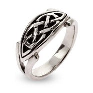 Sterling Silver Oval Celtic Knot Ring
