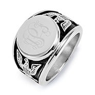 Men's Engravable American Bald Eagle Signet Ring