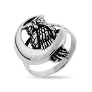Sterling Silver Midnight Owl Ring