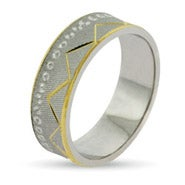 Golden Everest Silver Wedding Band