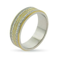 Eternity by Eve Golden Stippled Sterling Silver Wedding Ring